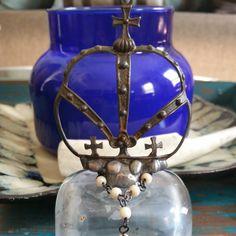 New hand soldered crown perfume bottle.  #HandDesignedElementsOfStyle