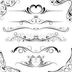Vector Art : Wedding swirl floral element