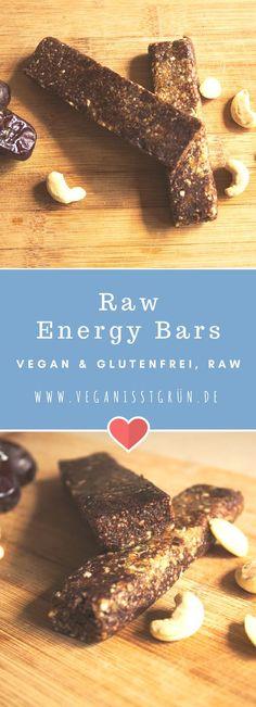 Raw Energy Bars sind der ideale Snack, wenn man neue Energie braucht. Nüsse, Datteln und Kakao machen den Energieriegel zum perfekten Snack. Dazu ist er vegan, glutenfrei und rohköstlich.