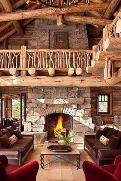 Cozy and Rustic Cabin Style Living Rooms 2019 Excellent Cabin Living Rooms Beautiful Home theater Stage Inspiring Sweet Home, Style Rustique, Log Cabin Homes, Log Cabins, Cabins And Cottages, Cabins In The Woods, Rustic Design, Rustic Decor, Rustic Style