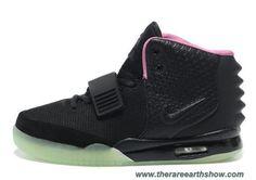 Discounts Women Shoes Black Pink Nike Air Yeezy II