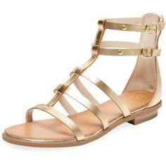 4e632de4c7e9 Seychelles Women s Collector Leather Gladiator Sandal - Gold - Size 6  (3