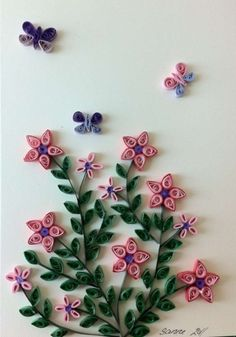 card with quilling
