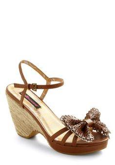 a2d32ef0f424 Mod Retro ~ Chestnut Charmer Wedge Dollhouse Shoes