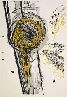 Bees. woodcut. Gertrude Hermes, 1963 (via British Museum)
