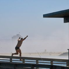 Well that's one way to cool off, but please don't jump off the pier, he did swim back to shore! ✌️. #photosbykennyg #oceanbeach #oceanbeachpier #sandiego #daredevil #lajolla #solanabeach #everypicturetellsastory #pacificbeach #encinitas #peace #lajollalocals #sandiegoconnection #sdlocals - posted by KennyG Photography  https://www.instagram.com/photosbykennyg. See more post on La Jolla at http://LaJollaLocals.com