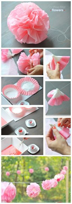 DIY Coffee Filter Flower Tutorial