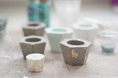 Modern concrete candle holders | DIY | www.evenyaru.com
