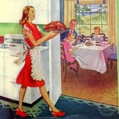 Image detail for -Retro Housewife on Thanksgiving by JuJuGarden
