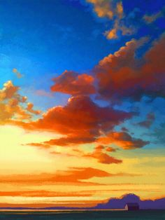 Clouds Paintings Related Keywords & Suggestions - Clouds Paintings ...