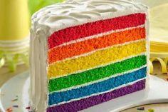 """Cómo hacer una súper torta """"Arcoiris""""   Informe21.com"""