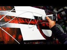 Démo de peinture Abstraite au couteau, pinceaux, bande de masquage - Neuroides - John Beckley - YouTube