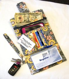 womens cell phone wallet YOU CHOOSE FABRIC by ShawnaLaneDesigns