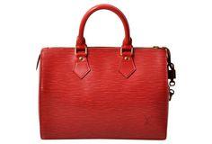 Louis Vuitton Red Epi Speedy Bag
