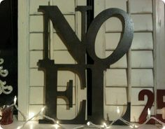 pottery barn diy noel sign..get the letters at hobby lobby