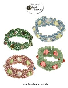 Seed bead rings from The Potomac Bead Company http://www.potomacbeads.com