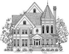 Victorian Style Houses Colouring Pages Page 2