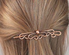 Plain Copper Hair Stick Metal Hair Clip by CopperStreetStudios