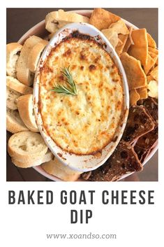 The perfect party appetizer: baked goat cheese dip! The perfect party appetizer: baked goat cheese dip! Appetizer Dips, Yummy Appetizers, Appetizers For Party, Appetizer Recipes, Dip Recipes, Christmas Party Appetizers, Vegetarian Appetizers, Party Snacks, Veggie Recipes