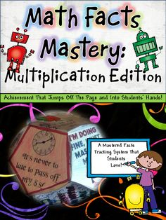Mastering Multiplication Facts can be a difficult thing for our students. Learning facts can become boring and uninspiring. Well, NOT ANY MORE! Have your students their their 12 mastered facts certificates into a dodecahedron! Lots of ideas, suggestions, and even mastery challenge sheets. Easy to use and inspiring for students! ($)