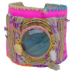 indian summer big pink neon bracelet by depetra