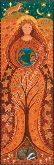 Earth Goddess Banner by Wendy Andrew --- http://www.paintingdreams.co.uk/image.php?name=earth-goddess&gallery=folk_art_goddess