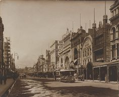 Bourke Street, Melbourne, c1890s. SLV