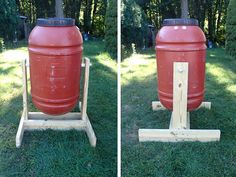 How to Make a Barrel Compost Tumbler Project - Homesteading - Gardening - Compost - Composting, The Homestead Survival