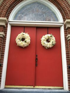 Wreaths - Church front doors | Flickr - Photo Sharing!