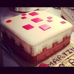 My homemade Minecraft cake !