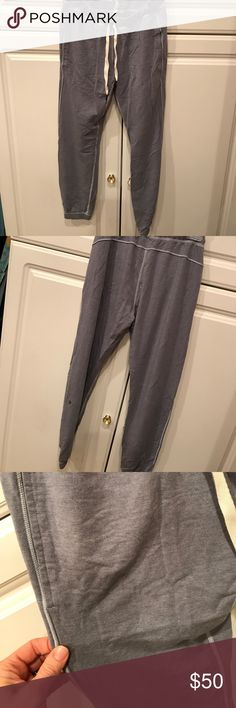 Lululemon sweat pants Excellent used condition gray sweatpants, possibly the serenity style.  Super soft with tie waist andelastic at ankle lululemon athletica Pants Track Pants & Joggers