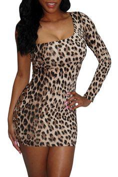 Leopard Print My Lover Savvy Clubwear Dress