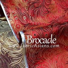 Buy Feather Brocade. Red Feather Brocade. Chinese Silk by fabricAsians
