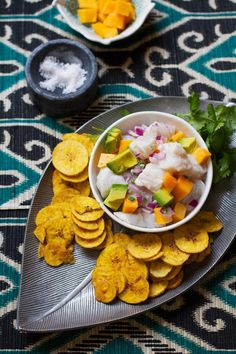 Halibut Ceviche with Mango and Avocado