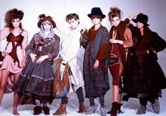 """Buffalo Girls collection, 1982/1983  Manager of the Sex Pistols, Westwood was an alternative fashion designer, responsible for bringing punk and new wave fashion to the mainstream. She made the new romantic """"pirate"""" look a hit 80s vintage fashion"""