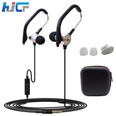 2016 Hot Metal Hang Ear Style Double function Headset Earphones Running Headphone Stereo Earbud With Mic for All Mobile Phone