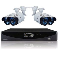 Night Owl B-F900-81-4 8-Channel Video Security System with 4 High-Resolution 900 TVL Bullet Cameras, Black