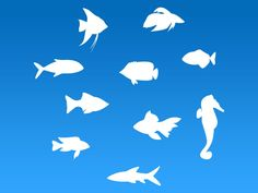 Fish Silhouette Free vector