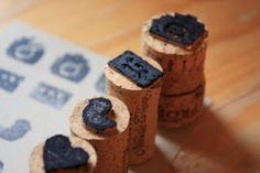 Wine cork stamps. Cork Crafts! – Richard Partridge Wines
