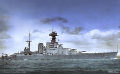 A wonderful digitally colourised photo of HMS Hood. I still think this is the most graceful and beautiful capital ship ever built........like the Titanic, she evokes a story that is amazing, tragic, fascinating and poignant, and every time we see a photo or picture we think of the momentous and tragic fate awaiting her.