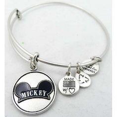Disney alex and ani charm bracelet mickey mouse ear hat silver