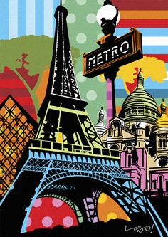 Metro Paris by Lobo Pop Art.      For more great pins go to @KaseyBelleFox