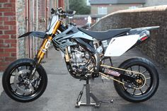 "The TAFFYMOTO built ""Black Pearl"" CRF450R Supermoto."