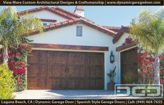 Spanish Garage Doors 12   Santa Barbara Style Garage Doors for a Spanish Style Bungalow
