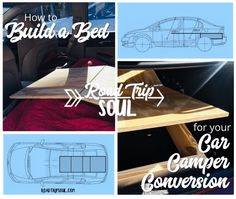 Build a Bed for Your Honda Civic Camper Conversion - Road Trip Soul Truck Bed Camping, Minivan Camping, Camping Gear, Build A Camper Van, Car Camper, Living In Car, Van Living, Sleep In Car, Built In Bed