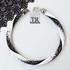 This lovely Bead Crochet Bracelet is made of Japanese seed beads of superior quality - Miyuki Crochet Bracelet Pattern, Bead Crochet Patterns, Bead Crochet Rope, Bracelet Patterns, Beading Patterns, Beaded Crochet, Seed Bead Necklace, Beaded Necklace, Beaded Bracelets