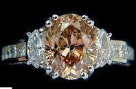 #Jewelry 4.82ct Natural Fancy Orange Brown Color Diamond Ring Excellent