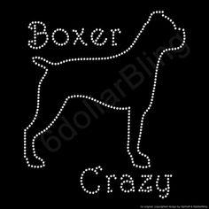 Strass di ferro per il trasferimento Crazy Boxer di 6dollarBling