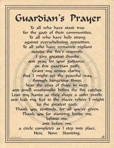 Guardian's Prayer Parchment Book of Shadows Page or Poster   eBay