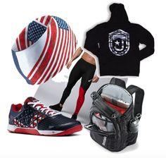 newest 73398 45400 Patriotic Crossfit Swag